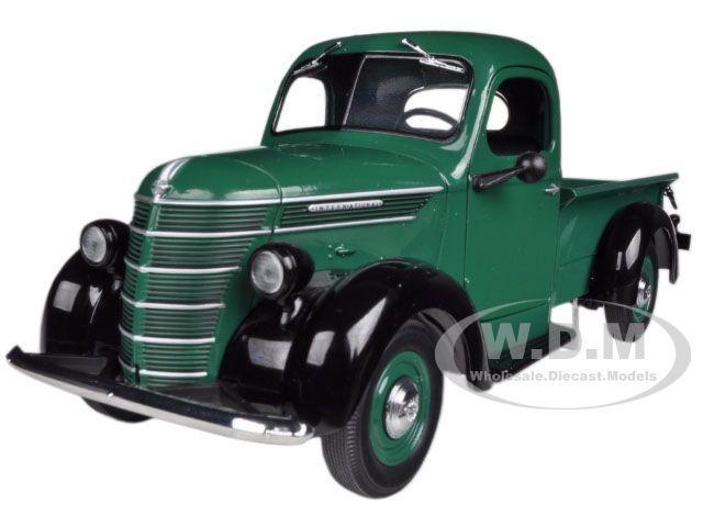 1938 International D-2 Pickup Lkw IH Grün   Schwarz 1 25 von First Gear 40-0307
