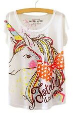 Ladies Totally Unique Unicorn Kawaii T-Shirt Top Cute Harajuku Boutique UK 8-10