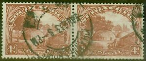 South-Africa-1932-4d-Brown-SG46aw-Wmk-Inverted-Fine-Used