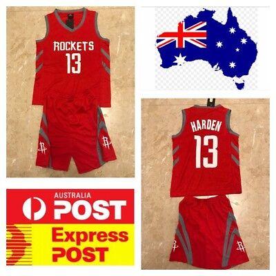 info for 3bd2d d7e8f Houston Rockets James Harden Kids Jerseys Set, Red Color   eBay