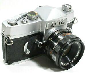 Mamiya-Reflexa-35mm-Filmkamera-mit-Canon-OM-f1-9-50mm-Objektiv-selten-UK-Schnelle-Post