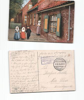 b98321 Briefmarken Farbansichtskarte Zeeland Belgien Tracht 1915 Feldpost Audenarde Eine GroßE Auswahl An Modellen Deutschland