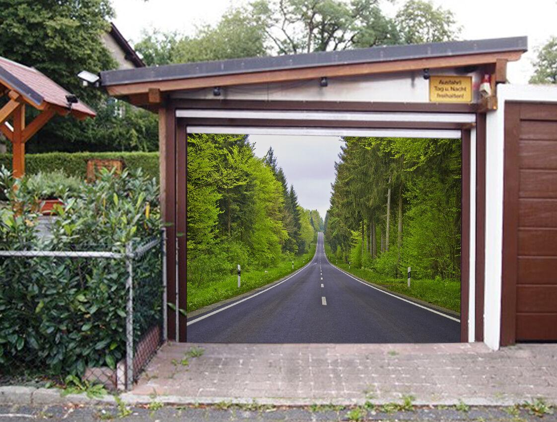 3D Road view Garage Door Murals Wall Print Decal Wall Deco AJ WALLPAPER AU