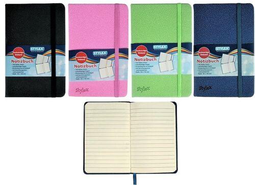Notizbuch farbig liniert etwas kleiner als DIN A6 Tagebuch Notizbücher Hardcover