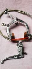Blue Old School BMX Bike MX Rear Brake Lever Cable Caliper CruiserBicycleVintage