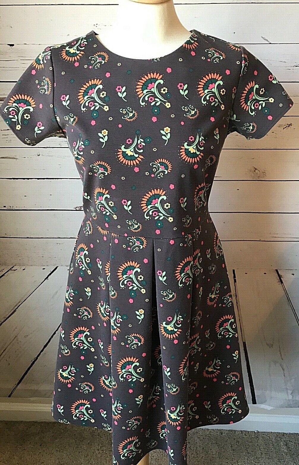 Matilda Jane dress Maja Ponte braun floral damen Größe medium a-line full skirt