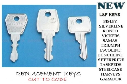 /& meubles de bureau-Replacement Keys Casier Keys Cut to code