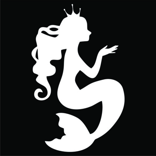 Choose Color /& Size Sticker Large Mermaid Decal