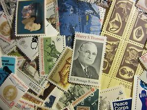 Nice Mint US Postage Stamp Lots, all different MNH 8 CENT COMMEMORATIVES UNUSED