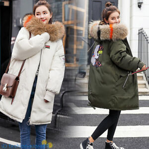 winter-women-039-s-long-jacket-jacket-casual-thick-Down-cotton-coat-Big-Fur-Outwear