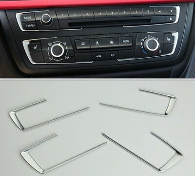 BMW 3 4 Series F30 F32 F34 320 420 2013 2014 Chrome Dashboard Console cover trim
