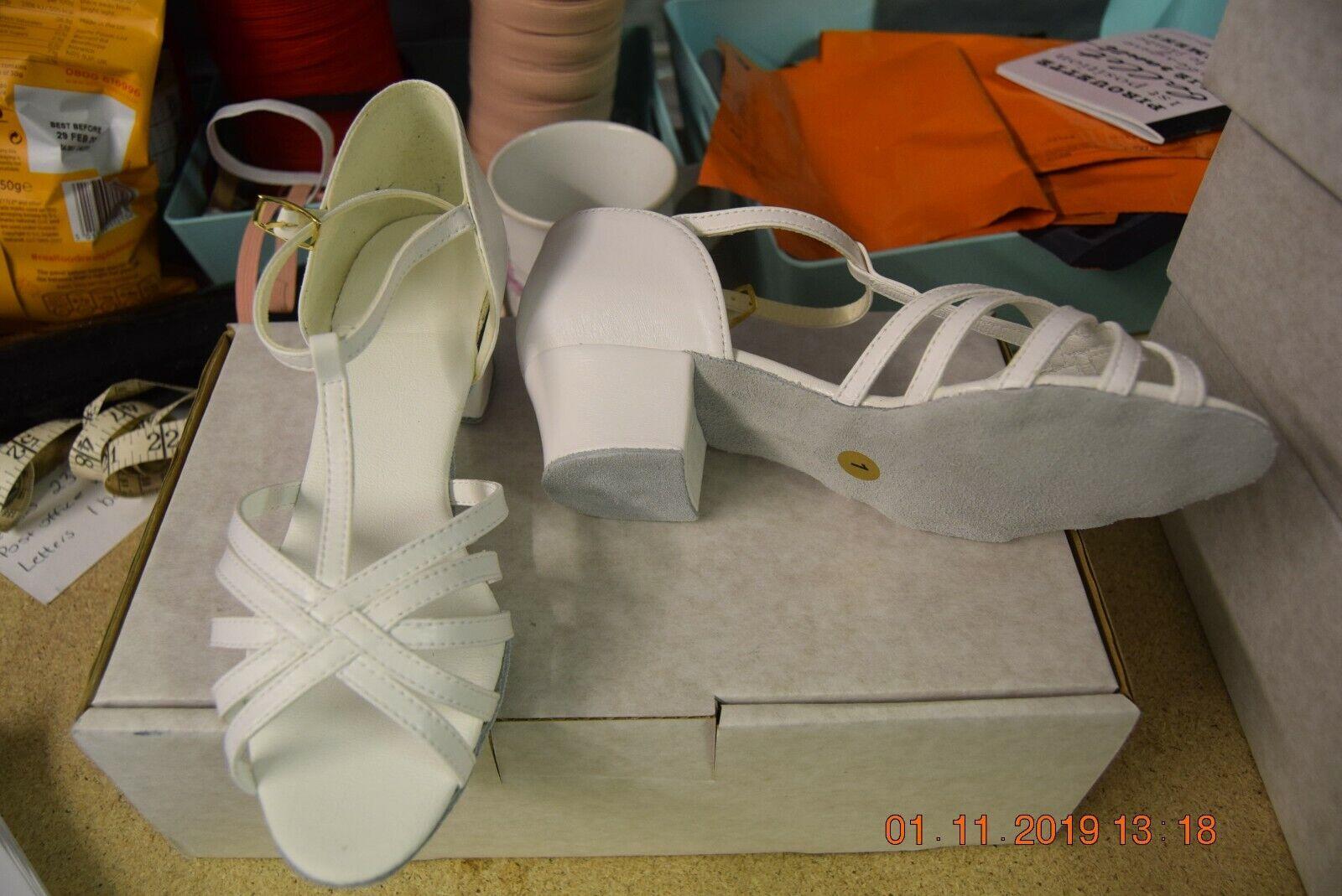 White Lexie dance depot ballroom/latin dance shoes