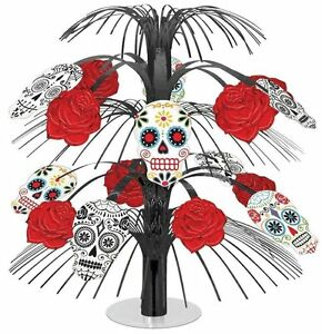 Day of The Dead Cascading Decoration Table Centerpiece Pack of 6 12