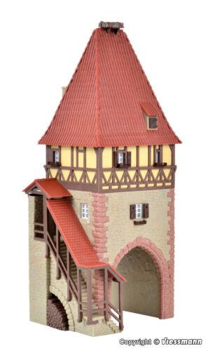 Kibri h0 38470 veces obra de torre con gol nuevo//en el embalaje original