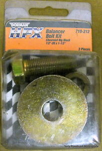150,000 PSI Bolt Gold Dorman HPX #710-211 Chevy SB Harmonic Balancer Bolt Kit