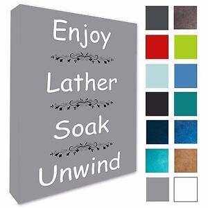 Bathroom Wall Art Picture Enjoy Lather Bathroom Wall Canvas Prints 4 Sizes 135 Ebay