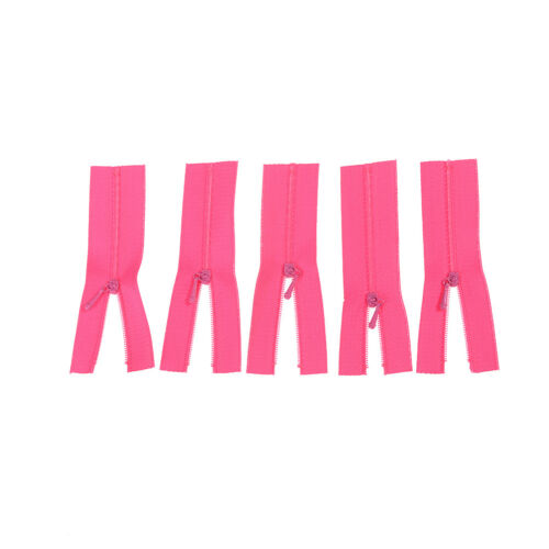 5Pc Mini Zipper for Dolls Clothes Bags DIY Craft Sewing Accessories Tool GiftJC