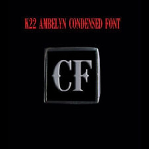 Stainless Steel CF Motorcycle Club Letter biker Ring K22 Font Custom size