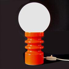 TISCHLEUCHTE Keramik orange / Milchglas, 70er Jahre / Panton Ära