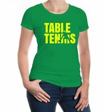 Damen Girlie T-Shirt Frequenz-Table Tennis Tischtennis Ballsport Sport Ping Pong