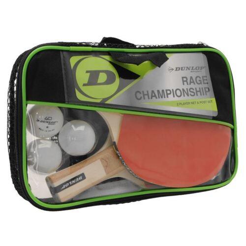 DUNLOP Rage Championship Tischtennis Set Komplettset Schläger Netz Bälle