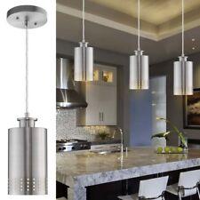 2 Light Kitchen Bar Island Billiard Hanging Pendant Brushed Nickel