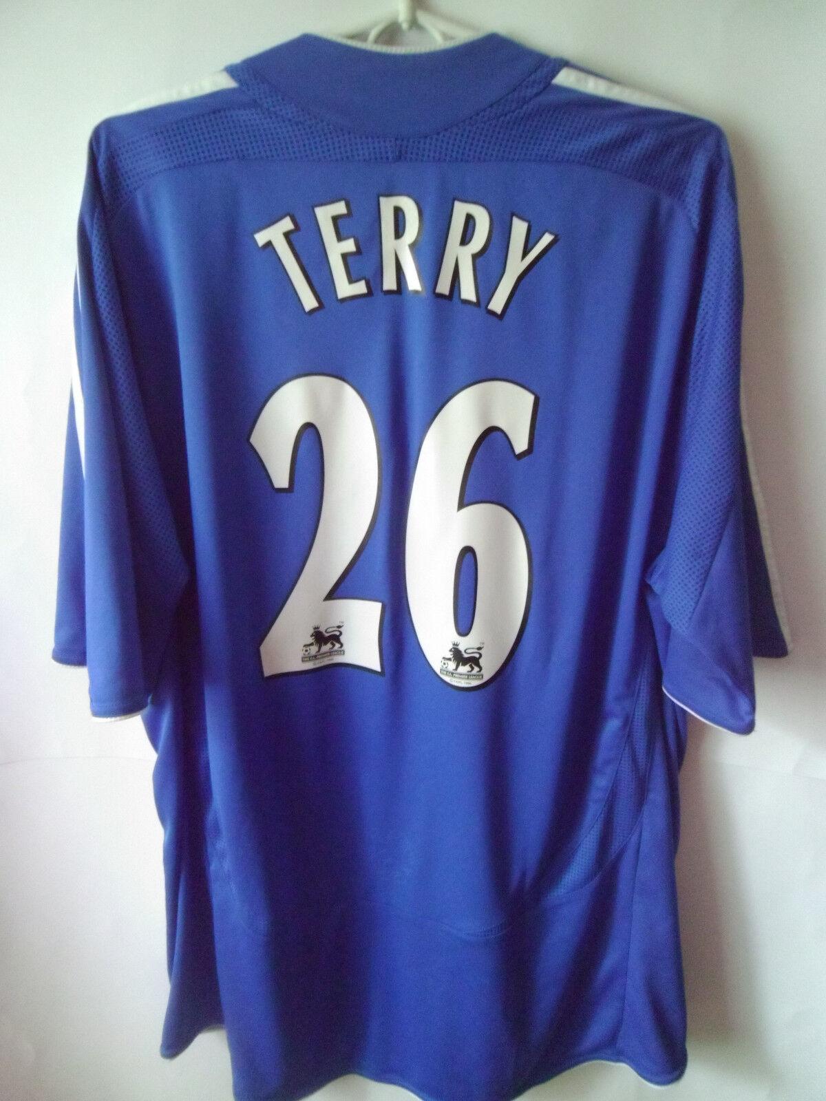 TERRY     2006-08 Chelsea Chelsea Chelsea Home Shirt Jersey Trikot XL e0b449