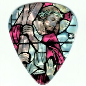 Religious-Stained-Glass-Guitar-Pick-Jesus-Cross-Pray-Strength-Beautiful-Picks