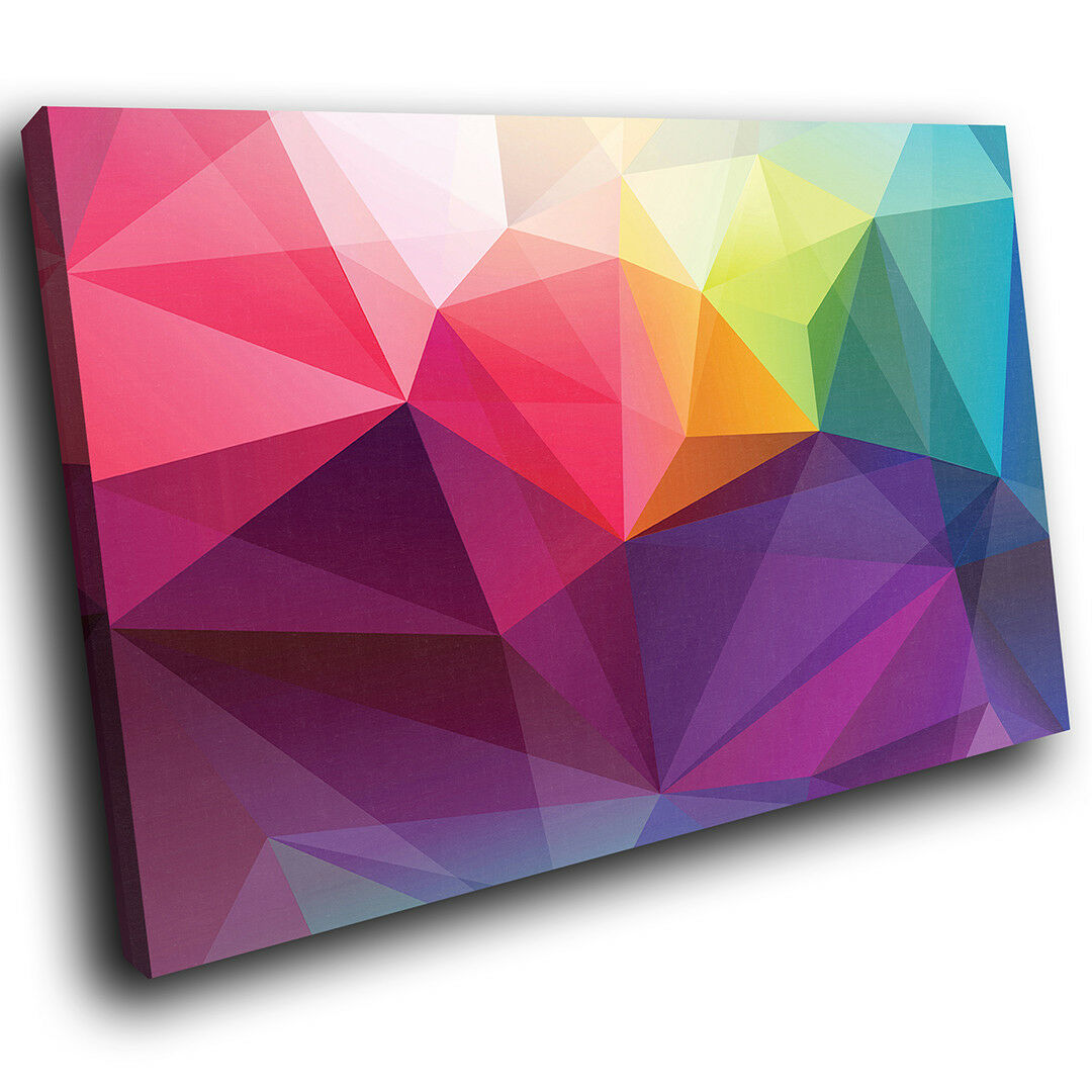 AB644 Colourful Geometric Modern Abstract Canvas Wand Kunst Large Bild Druckens