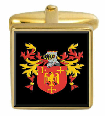 Select Gifts Mailman England Heraldry Crest Sterling Silver Cufflinks Engraved Message Box