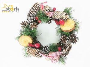 Ghirlanda di natale decorazioni e addobbi natalizi porte tavola e le finestre ebay - Addobbi natalizi per le finestre ...