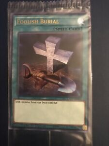 Yugioh Foolish Burial LART-EN016 Ultra Rare Lost Art Promo Sealed