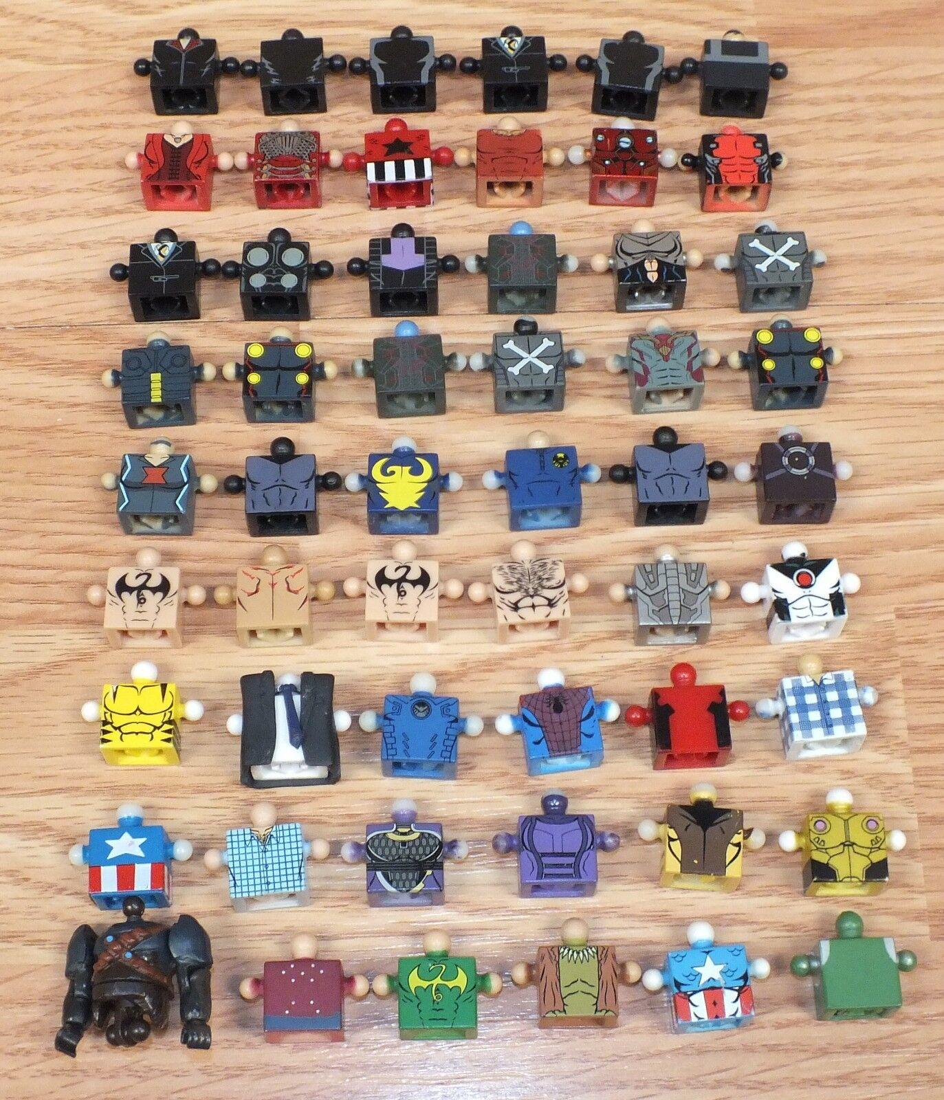 Sin Marca Lote de 54 cuerpos con temática de Cocheacteres múltiples para Minimates Mini Figuras