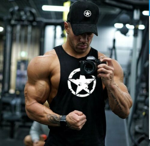 Gym Tank Top Men Fitness Workout Singlet Bodybuilding Muscle Sleeveless Vest