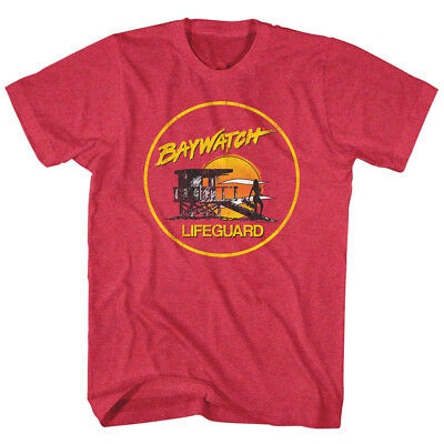 1990/'s Baywatch TV Show Los Angeles County Lifeguard California Adult T Shirt