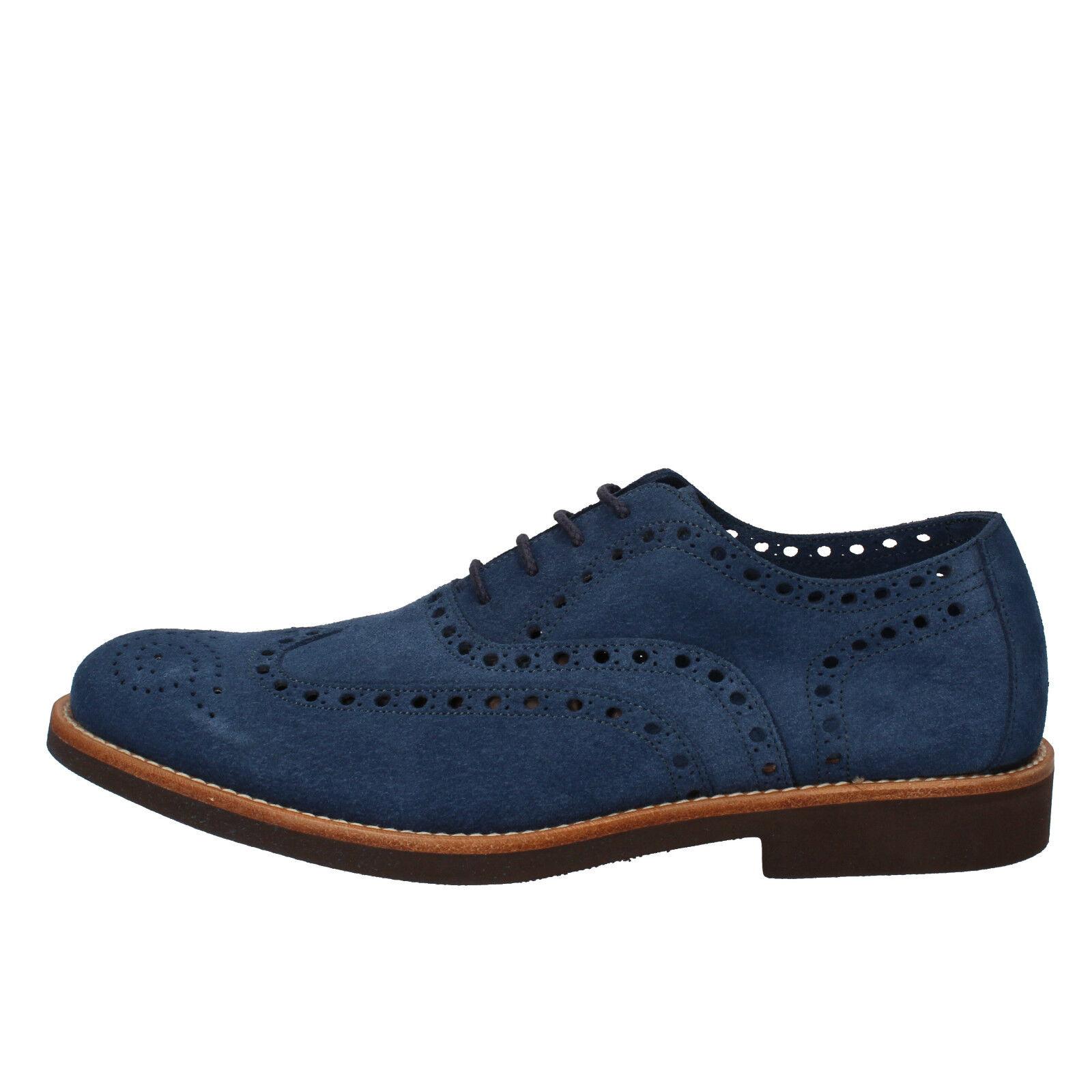 Scarpe da Uomo Di Mella 40,5 elegante blu camoscio ad236-c