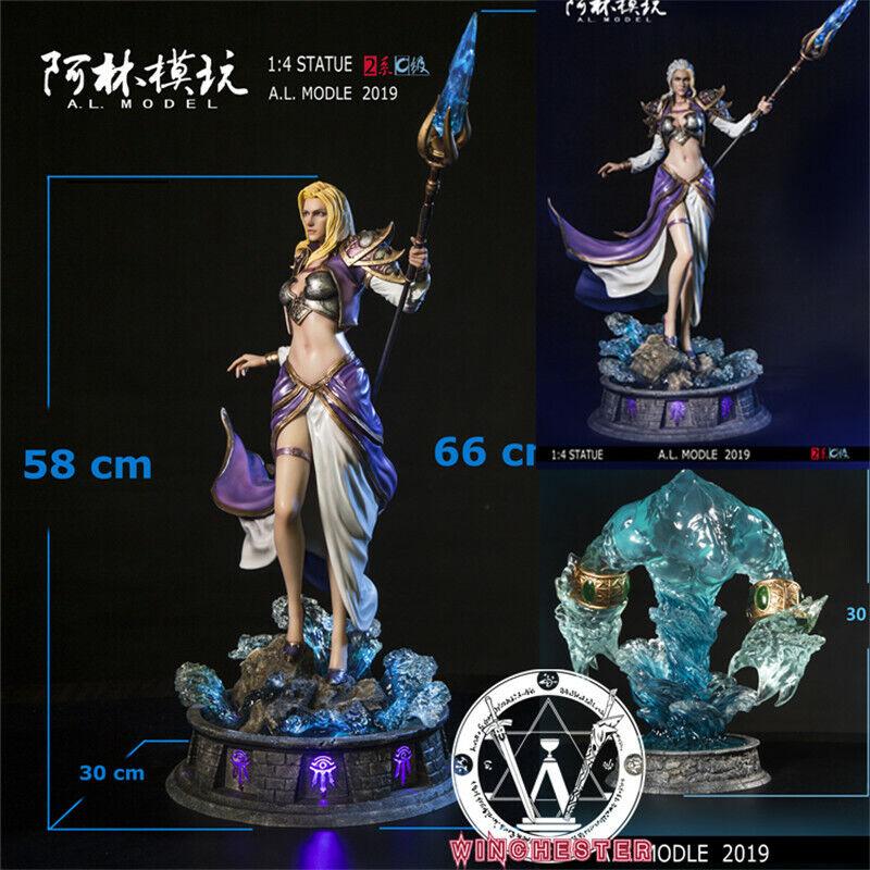 1 4 Wow Jaina valiente estatua de agua modelo de resina estatuilla elemental Alin Studio
