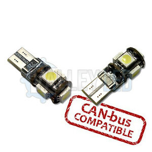 JEEP-PATRIOT-07-on-luz-Bus-CAN-leds-Luz-Lateral-501-W5W-5SMD-Blanco-Bombillas