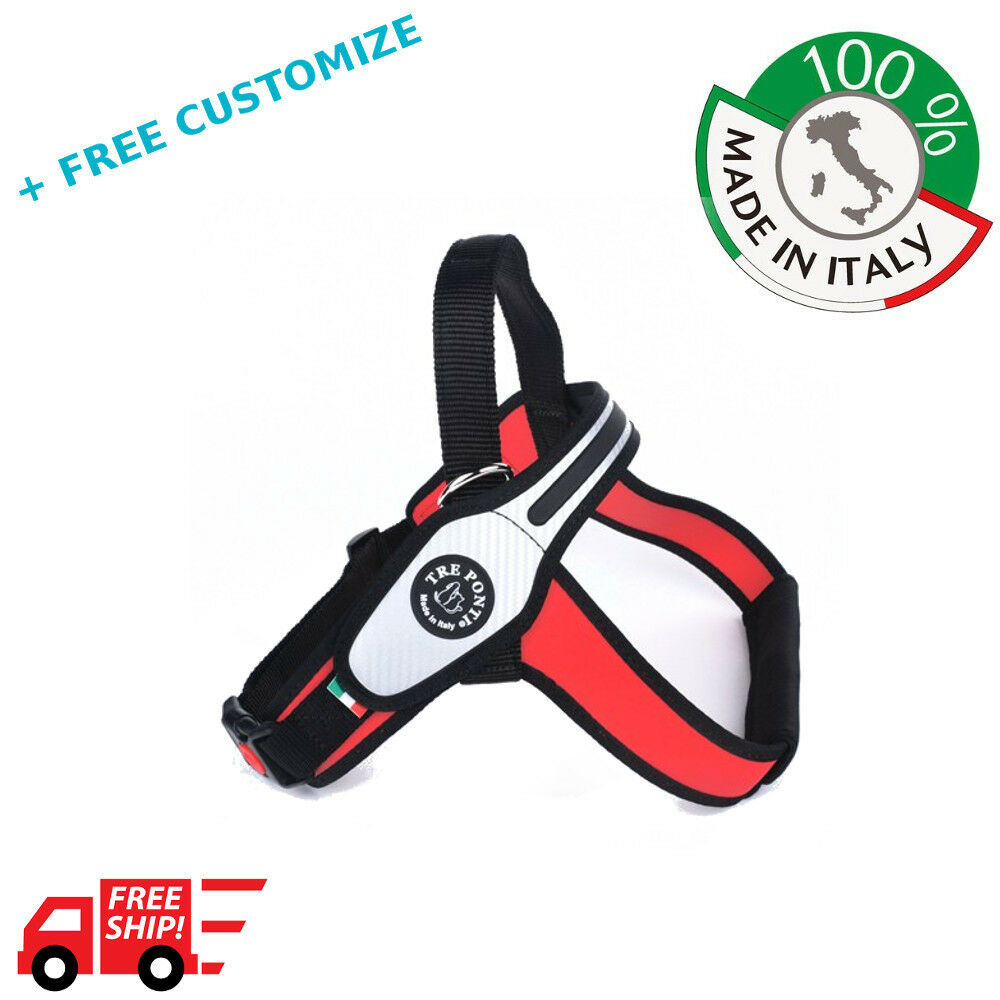 DOG HARNESSES TRE PONTI MOD. PRIMO CARBONIO FOR BIG DOGS 100% MADE IN ITALY