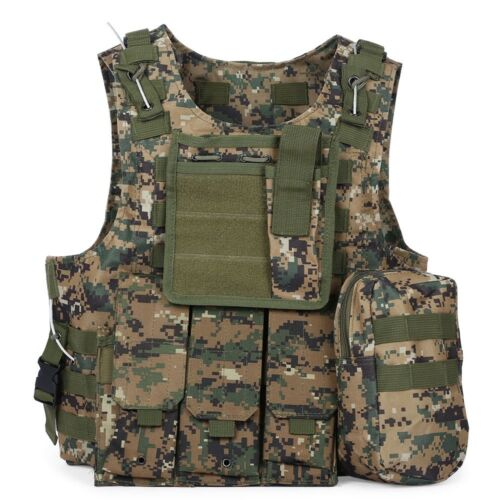 Camouflage Tactical Military Molle Waistcoat Combat Assault Plate Carrier Vest