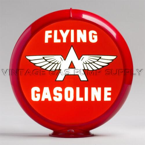 """G442.1 Flying A Gasoline 13.5/"""" Gas Pump Globe w// Red Plastic Body"""