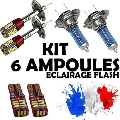 KIT 6 AMPOULE XENON • 2x H7 + 2x H1 + 2x LED T10 • SMD CANBUS ANTI ERREUR ODB