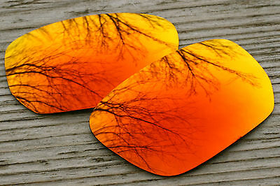 Hot Orange Red Mirrored Replacement Sunglass Lenses for Oakley Style Switch