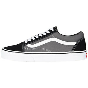 a0d940353b Mens Vans Old Skool Fashion Sneakers Black Pewter Suede Canvas All ...
