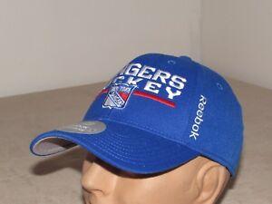5ce8dca2 New York Rangers NHL Baseball Hat Adult L/XL REEBOK Center ICE ...