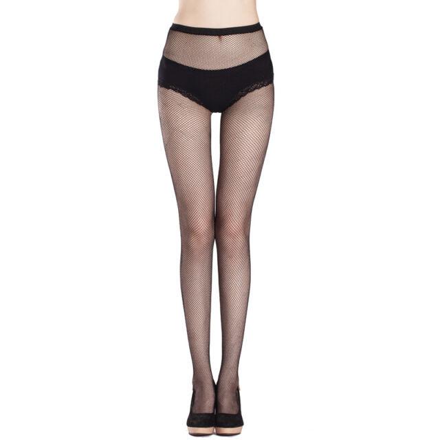 Women Sexy Black Fishnet Net Pattern Burlesque Hoise Pantyhose Tights