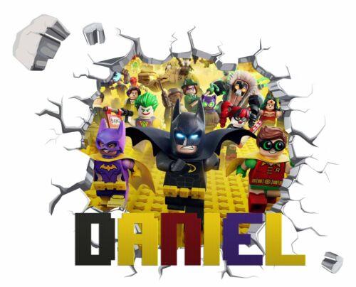 Personnalisé Tout Nom LEGO Applique Murale 3D Art Stickers Vinyl Salle Chambre Cadeau 5