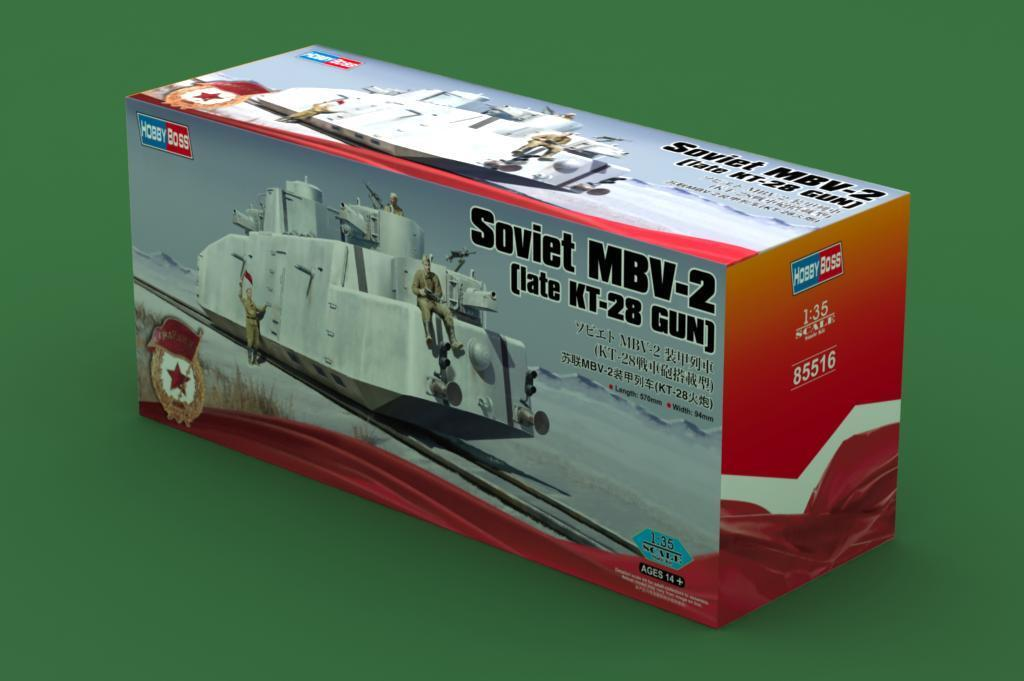 Hobbyboss 85516 1 35th Scale Soviet MBV-2 Late KT-28 Railway Gun