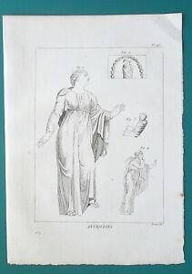 GREEK-DRESS-Children-King-Creon-Daughter-of-Niobe-1804-Antique-Print