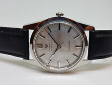 RARE 60'S OMEGA HONEYCOMB SILVER DIAL CAL 550 AUTO MAN'S WATCH